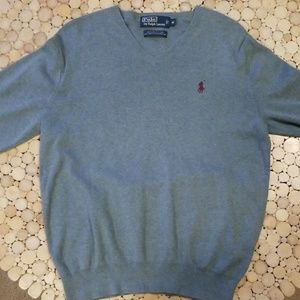 Polo by Ralph Lauren Pima Cotton V-Neck Sweater